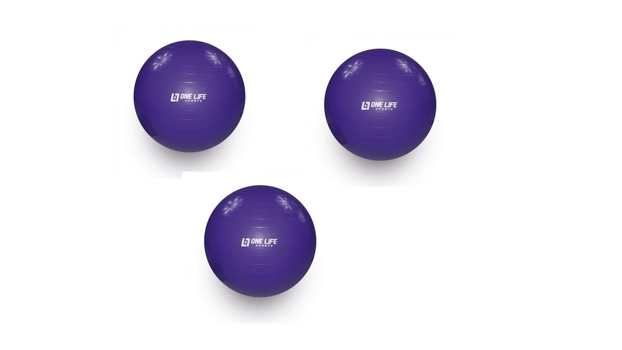 Kit 3 Bolas Para Yoga Pilates Fisioterapia Overball 25cm