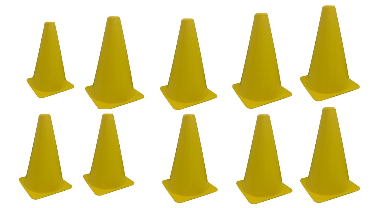 Kit C/ 10 Unidades Cone Agilidade 20cm Amarelo