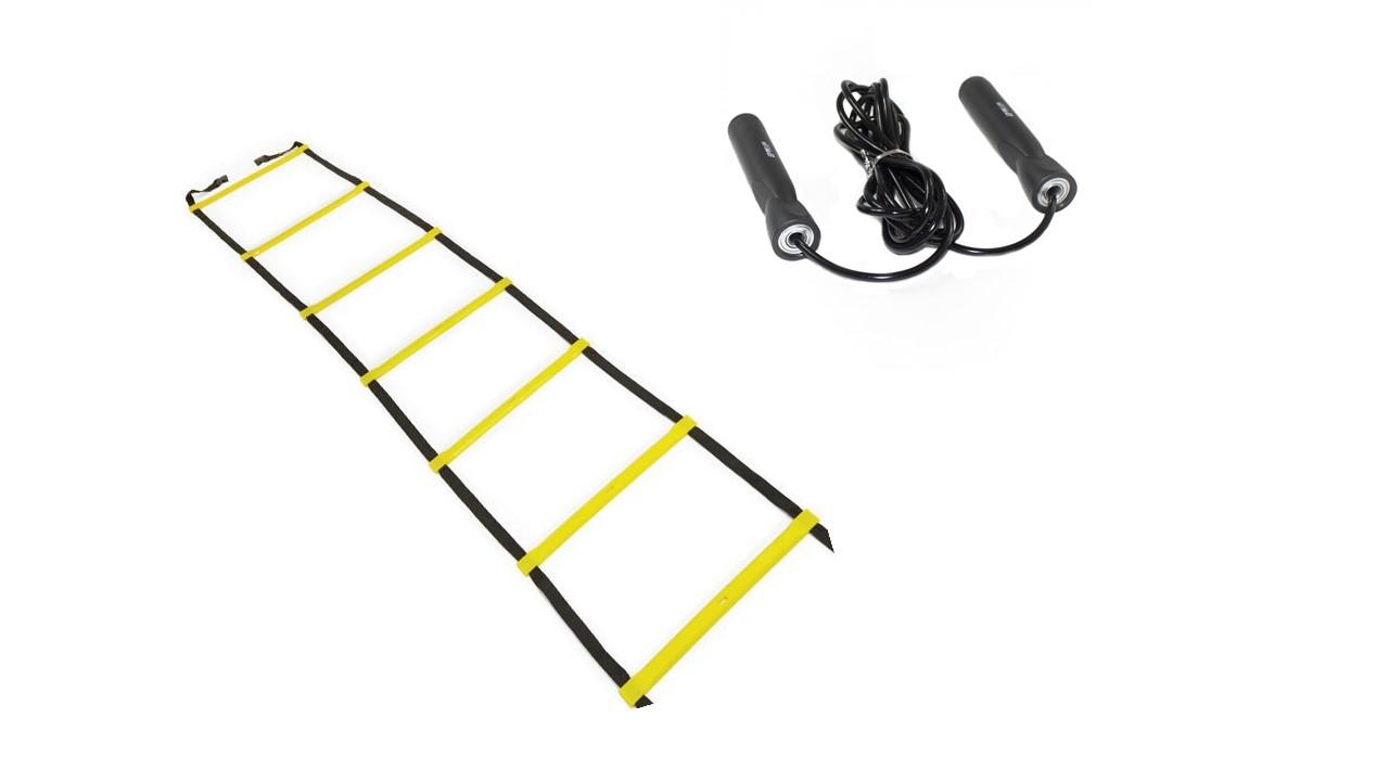 Kit Corda de Pular + Escada de agilidade