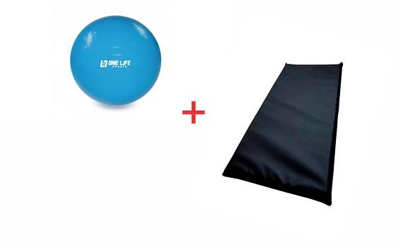 Kit Pilates Colchonete+ Bola Suiça 55 cm
