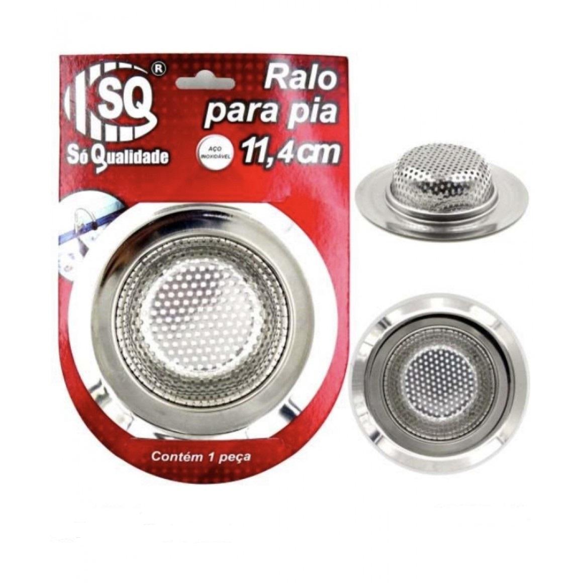 Ralo De Metal Para Pia Com Bordas Peneira 11,5 Cm