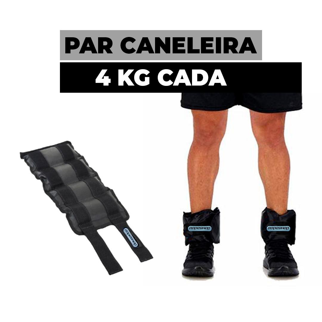 Tornozeleira / Caneleira de 4 KG Par 2 Fitas