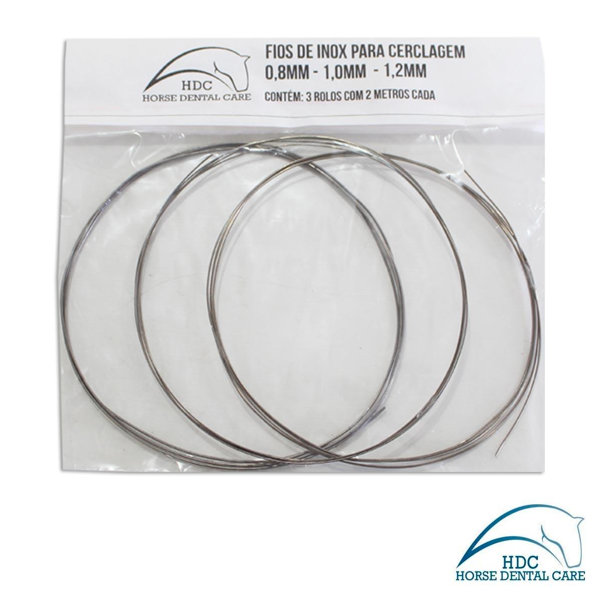 Fio de inox para Cerclagem - 3 Rolos (0.8,1.0 e 1.2mm)