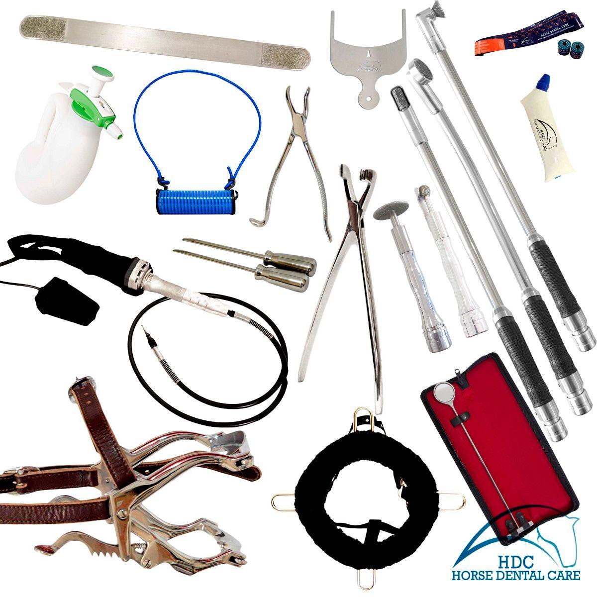 Kit Básico para Odontologia Equina 03 - EVO