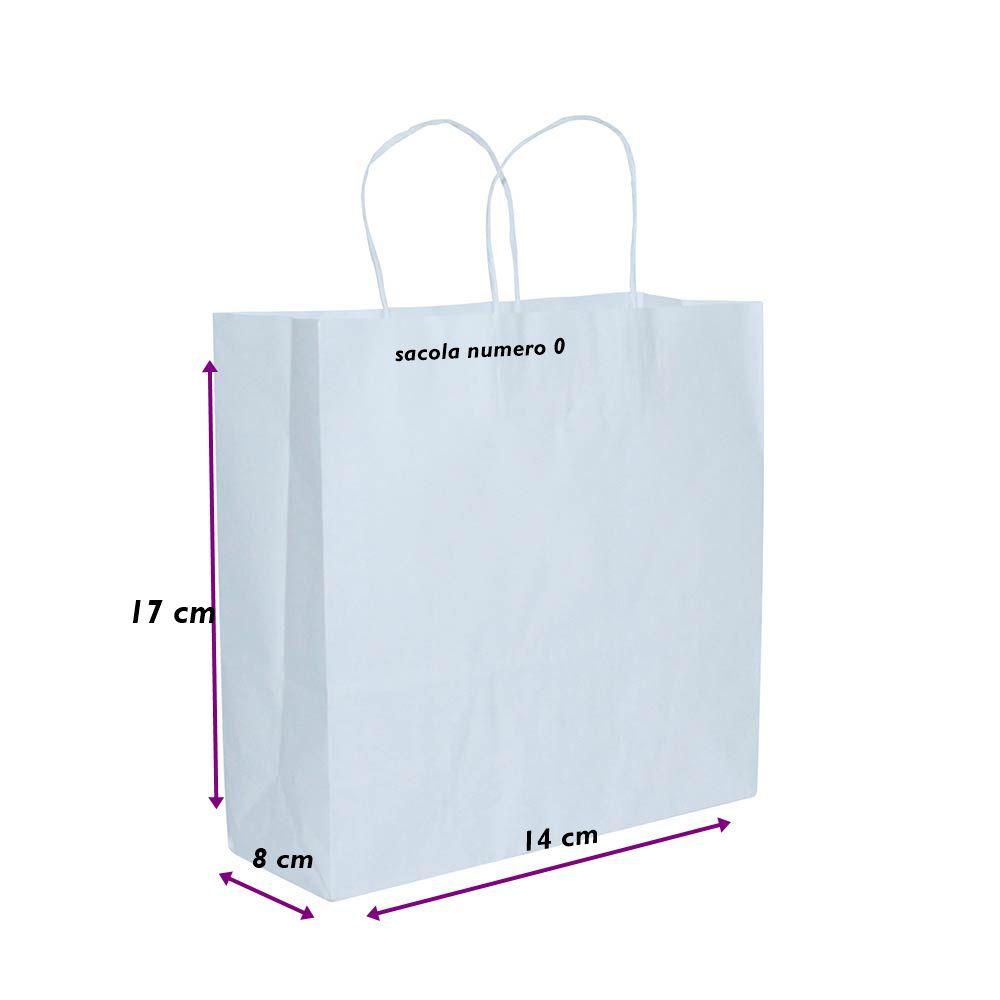 1e6c559e1 Sacola de Papel Branco 14X17X8 C/100 unidades - VH Shop