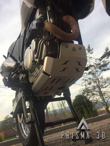 Protetor De Cárter Yamaha Teneré 250 Alumínio Preto