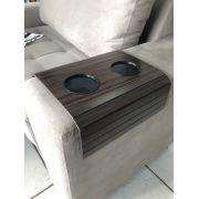 COPY-28-Kit 2 Bandejas Para Braço De Sofá Flexível Com Porta Copos Cor Tabaco DM Interiores
