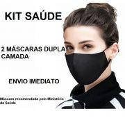 KIT 2 Máscaras De Proteção Lavável Não Descartável Tecido