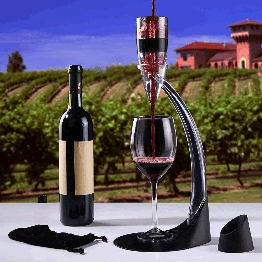 COPY-143-Kit Vinho Magic Decantador Aerador De Vinho Com Torre Suporte