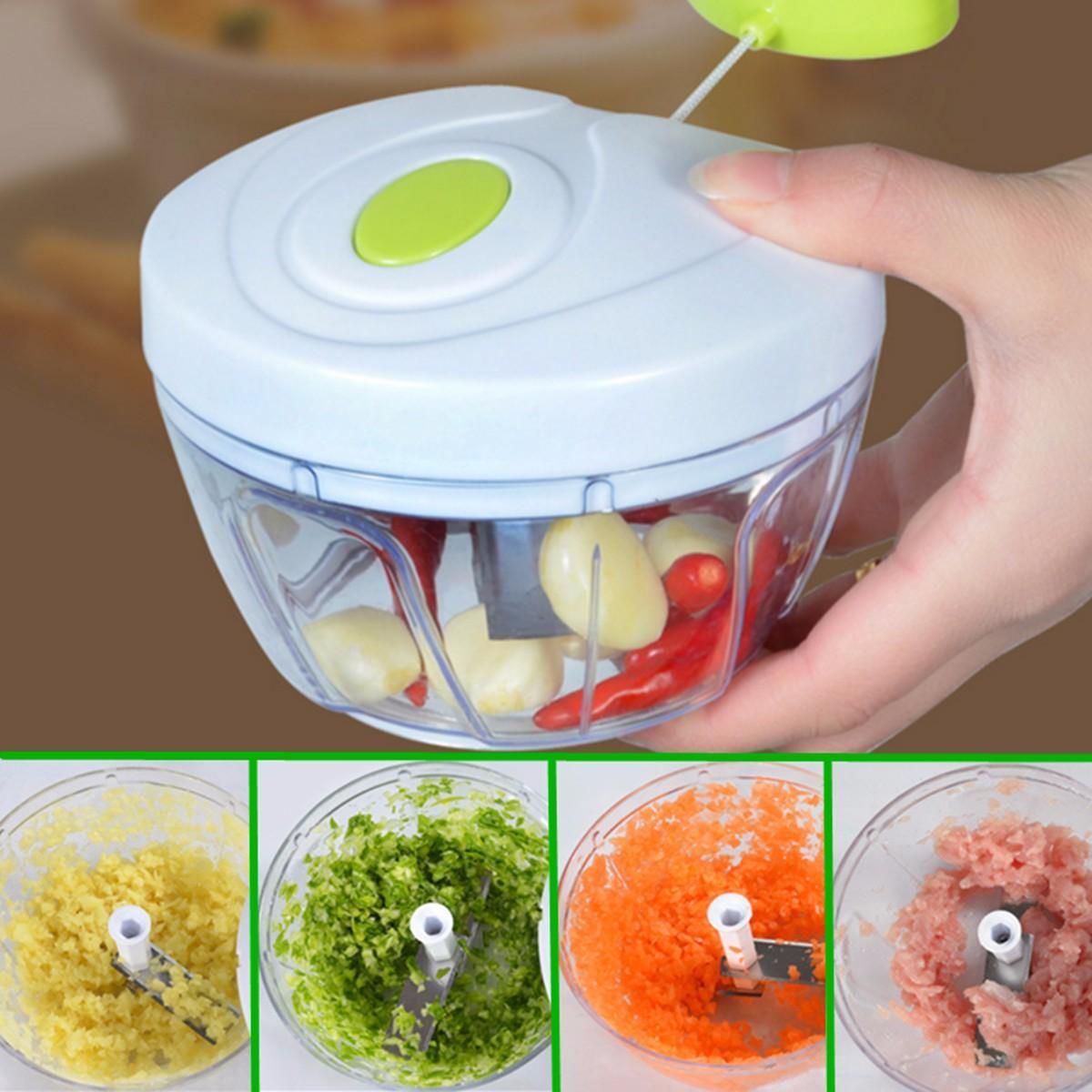 KIT 2 Cortadores  de Legumes Processador de Alimentos Triturador Cortador Manual Picador Cortador Legumes