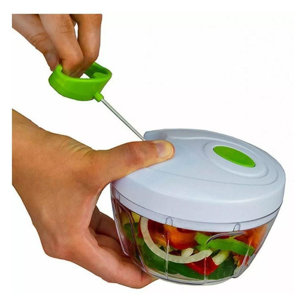 KIT 3 Cortadores  de Legumes Processador de Alimentos Triturador Cortador Manual Picador Cortador Legumes