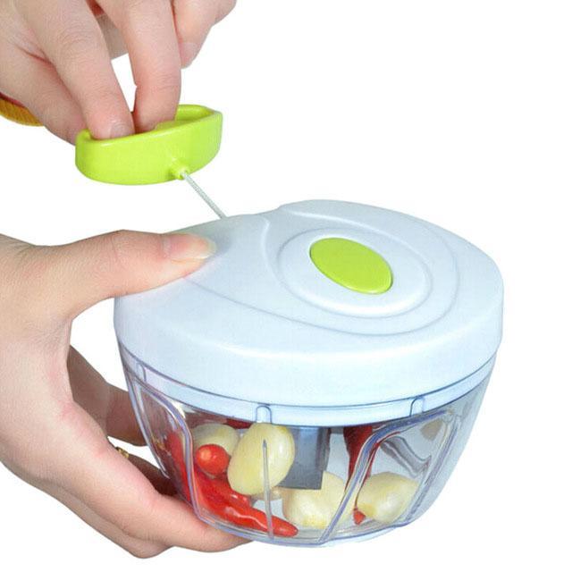 KIT 7 Cortadores  de Legumes Processador de Alimentos Triturador Cortador Manual Picador Cortador Legumes
