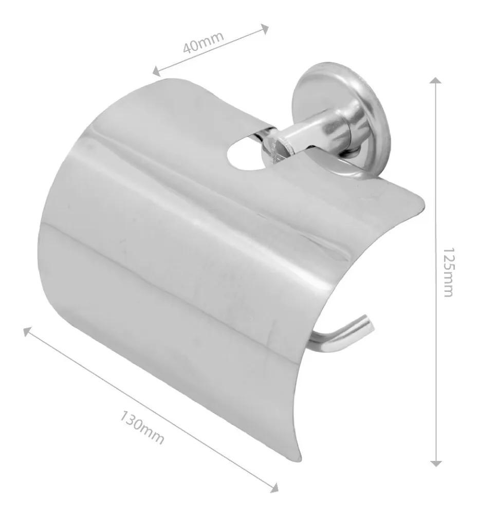 Kit Acessórios P/ Banheiro Aço Inox 5 Peças