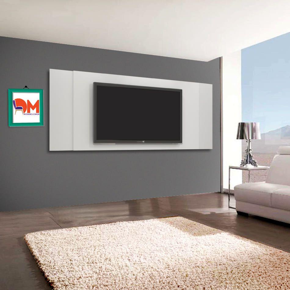 Painel para Tv Jaspe Candian Branco DM Interiores