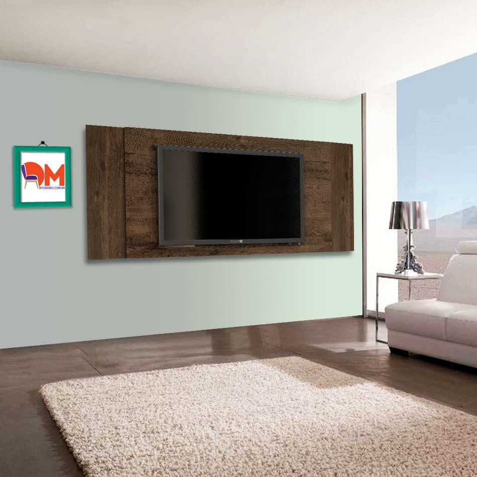 Painel para Tv Jaspe Candian Cacau DM Interiores