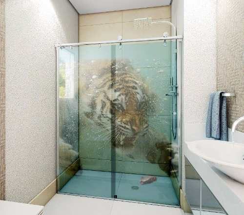 Adesivo Box De Banheiro E Porta De Vidro - Metro Quadrado