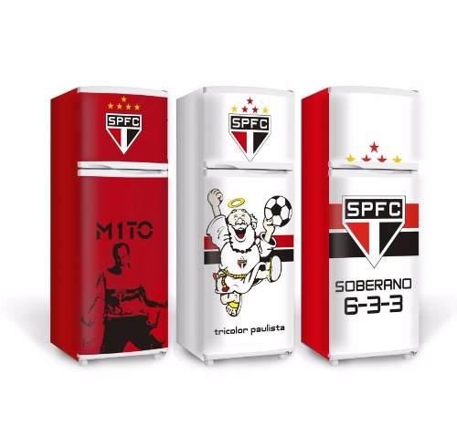 Adesivo Envelopamento de Geladeira E Freezer - Times Futebol - Somente Frente