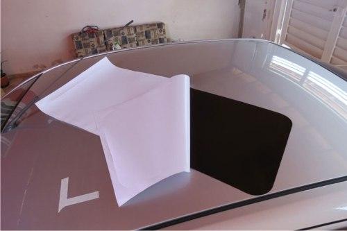 Adesivo Tuning Teto Solar Black Piano