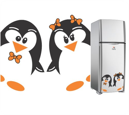 Adesivos Decorativos Pinguim De Geladeira - Diversos Modelos