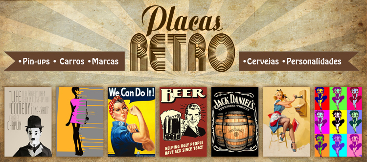 Placas Decorativas Retro