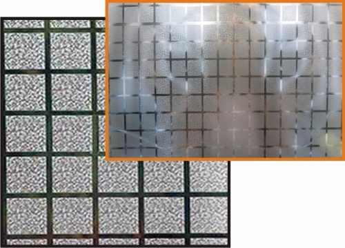 Adesivo Decorativo Jateado P/ Vidro, Box, Janela, Porta 5,0m