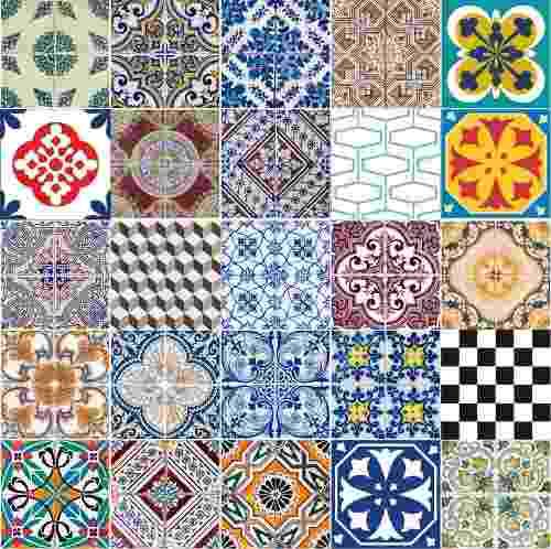 Adesivo Azulejo Português Ladrilho Hidráulico 15x15 ou 20x20 cm