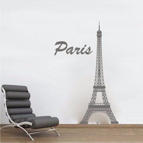 Adesivo Decorativo de Parede e Porta - Torre Eiffel Paris