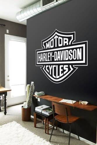 Adesivo Parede E Portas Harley Davidson Grande