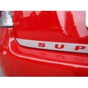Faixa para Porta Malas Super Sport em Adesivo Aço Escovado e Preto Fosco