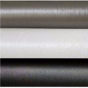 Adesivo Aço Escovado Preto, Branco E Titanium - 50 x 122 cm
