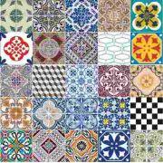 Kit Adesivo Decorativo para parede Azulejo Português / Retro