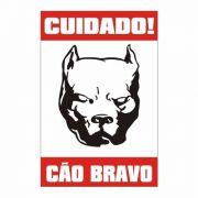 Placa Cão Bravo Rottweiler, Pitbull, Pastor C/ Frete Grátis