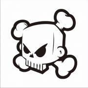 Adesivo Caveira Skull Ken Block Tunning