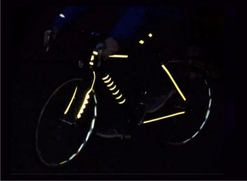 Adesivo Refletivo para Bicicleta, Moto e Carro - Modelos Exclusivos