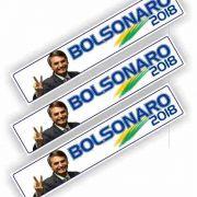Adesivo Para Carro E Parede Bolsonaro Presidente 30 x 6 cm