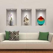 Adesivo Decorativo para Parede Nichos e Vasos 3D - frete Grátis