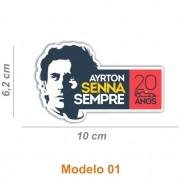 Adesivo Ayrton Senna 20 Anos, Maclaren, Assintura entre outros