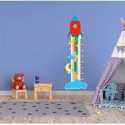 Adesivo Decorativo Infantil Régua Crescimento - Foguete