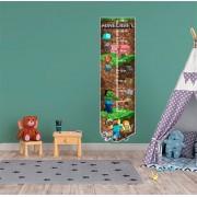 Adesivo Decorativo Infantil Régua Crescimento - Minecraft