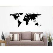 Adesivo Decorativo para Parede Mapa Mundi 1,20 x 0,58m