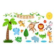 Adesivo Decorativo Safari com 19 adesivos