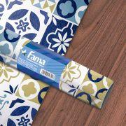 Adesivo Texturizado Azulejo para revestimento de Parede e Móveis - Lisboa Azul