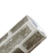 Adesivo Texturizado Pedra de Tijolo Cinza - Modelo 1802