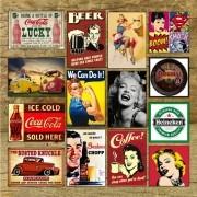 Adesivos Decorativos Vintage Retro - 19 x 29 cm