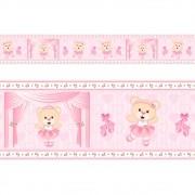Adesivo faixa decorativa de parede infantil borda bebe - Ursa Bailarina