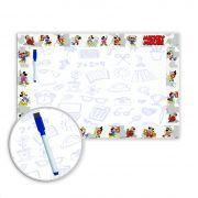 Lousa Quadro Branco em PVC Infantil 62x40 cm - Mickey Mouse - Ref 04