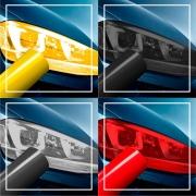 Película Adesiva Lanterna e Farol, Carro E Moto diversas cores - 50 x 50 cm