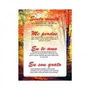 Placa Decorativa Quadro Oração Ho'oponopono  com significado 29 x 39 cm