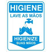 Placas Informativas Higienização - Lave as Mãos
