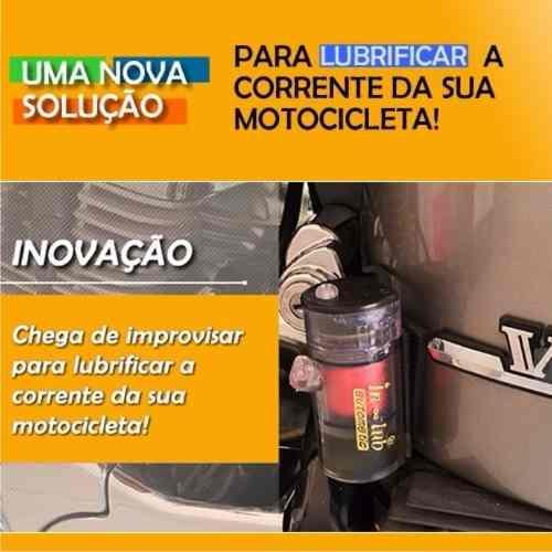 Lubrificante Semi-automático P/ Corrente Moto Botão Guidao